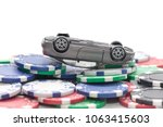 pile of casino chips and toy... | Shutterstock . vector #1063415603