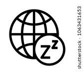 browser sleep vector icon