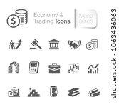 economy   trading icons   Shutterstock .eps vector #1063436063