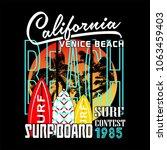 california surf contest...   Shutterstock .eps vector #1063459403