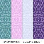 set of modern geometric pattern.... | Shutterstock .eps vector #1063481837