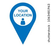pinpoint your location icon ... | Shutterstock .eps vector #1063481963