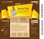 website design template 960...   Shutterstock .eps vector #106348403