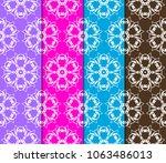 set of seamless geometric... | Shutterstock .eps vector #1063486013