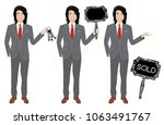 real estate agent in three... | Shutterstock .eps vector #1063491767