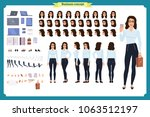 set of businesswoman character... | Shutterstock .eps vector #1063512197