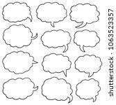 vector set of speech bubbles | Shutterstock .eps vector #1063523357