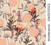 vintage floral pattern in the... | Shutterstock .eps vector #1063525313