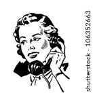 phone gal 2   retro clipart... | Shutterstock .eps vector #106352663