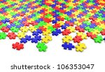 puzzle on white background. | Shutterstock . vector #106353047