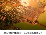 close up electronic components  ... | Shutterstock . vector #1063538627