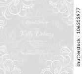 wedding card or invitation with ... | Shutterstock .eps vector #106353977