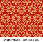 oriental mandala. ottoman... | Shutterstock .eps vector #1063561133