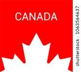 canada maple leaf. illustration ... | Shutterstock .eps vector #1063564637