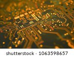 close up electronic components  ... | Shutterstock . vector #1063598657