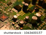 close up of electronic circuit... | Shutterstock . vector #1063600157