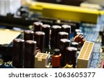 close up of electronic... | Shutterstock . vector #1063605377