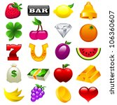 colorful vector set of slot... | Shutterstock . vector #106360607