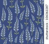 seamless pattern of blue flowers | Shutterstock .eps vector #106362287