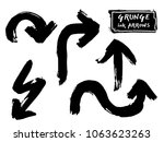 set of black grungy vector ... | Shutterstock .eps vector #1063623263