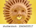 ceramic sun face stock images.... | Shutterstock . vector #1063633517