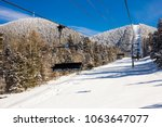 Small photo of View at the ski slopes piste in the mountains of Angel Fire, New Mexico.