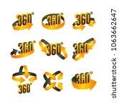360 degree  icons set  360... | Shutterstock . vector #1063662647