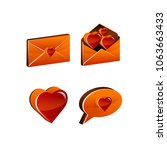 love  icons set  heart 3d icons ... | Shutterstock . vector #1063663433