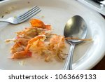 plate of food after eating... | Shutterstock . vector #1063669133