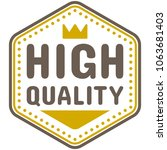 high quality badge vector | Shutterstock .eps vector #1063681403