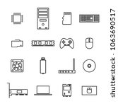set of icons computer devices... | Shutterstock . vector #1063690517