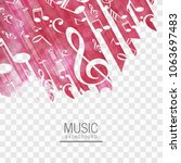 abstract music background vector | Shutterstock .eps vector #1063697483