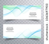 abstract business wavy banners... | Shutterstock .eps vector #1063697903