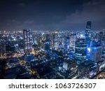bangkok metropolis drone... | Shutterstock . vector #1063726307