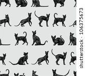 background with black cats | Shutterstock .eps vector #106375673
