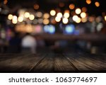 wooden board empty table  cafe  ... | Shutterstock . vector #1063774697