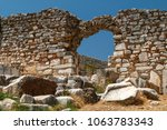 ruins of the ancient greek city ... | Shutterstock . vector #1063783343