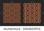 laser cutting interior set....   Shutterstock .eps vector #1063824923