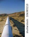 Pipeline In Desert Landscape