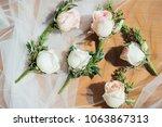 wedding flower ceremony | Shutterstock . vector #1063867313