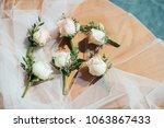 wedding flower ceremony | Shutterstock . vector #1063867433