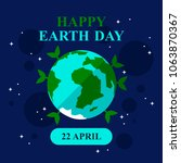 earth day. planet. space.... | Shutterstock .eps vector #1063870367