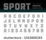 vector of athletic alphabet... | Shutterstock .eps vector #1063888283