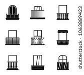 construction balcony icon set.... | Shutterstock . vector #1063889423
