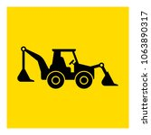 tractor backhoe loader icon... | Shutterstock .eps vector #1063890317