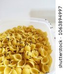 Small photo of Raw macaroni with Insects.