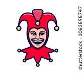joker head. jester icon.... | Shutterstock .eps vector #1063898747