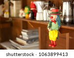 marionette puppet hang on the... | Shutterstock . vector #1063899413