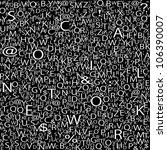 alphabet background  vector | Shutterstock .eps vector #106390007