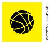 basketball bal icon vector